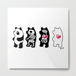 Panda Anatomy Metal Print