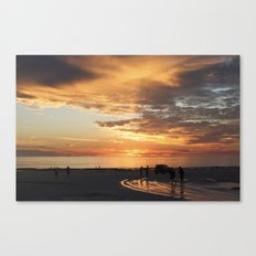 sunset over Broome Canvas Print