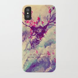 the sky is beautiful iPhone Case