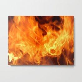 Sparkling flames Metal Print