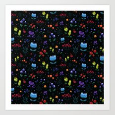 Magical berries Art Print