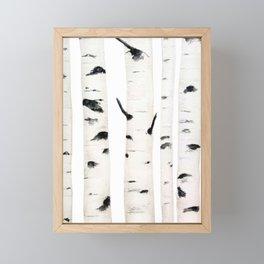 birch  watercolor Framed Mini Art Print