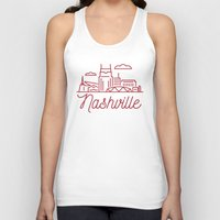 nashville Tank Tops featuring Nashville by Rob Allgood