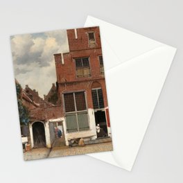 View of Houses in Delft, Known as 'The Little Street', Johannes Vermeer, c. 1658 Stationery Cards