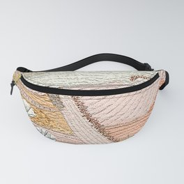 Landscape in powder pink Fanny Pack