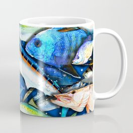 DEEP SALTWATER FISHING COLLAGE Coffee Mug