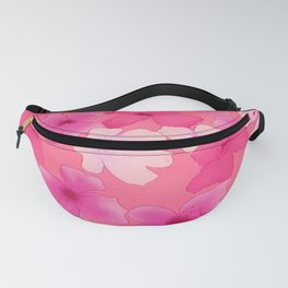 Girly pink watercolor abstract floral pattern Fanny Pack
