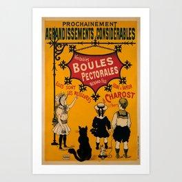 veritables boules pectorales nerand fils Vintage Poster Art Print