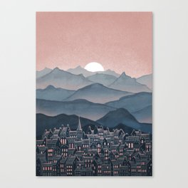 Seek - Sunset Mountains Canvas Print