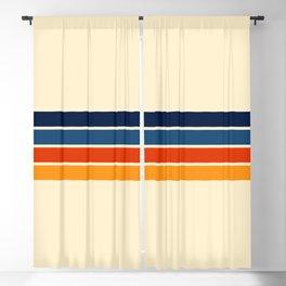 Mitsunari - Classic Retro Stripes Blackout Curtain