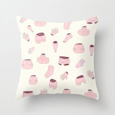 body parts Throw Pillow