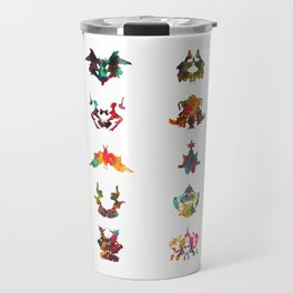 Collection of Rorschach inkblot tests Travel Mug