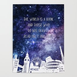 The world is a book Poster