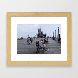 SOUTHEND PIER Framed Art Print
