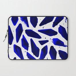Cobalt Blue Ink Blots Laptop Sleeve