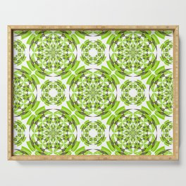 Fresh geometric pattern Serving Tray
