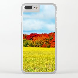 Fall Foliage Overload Clear iPhone Case