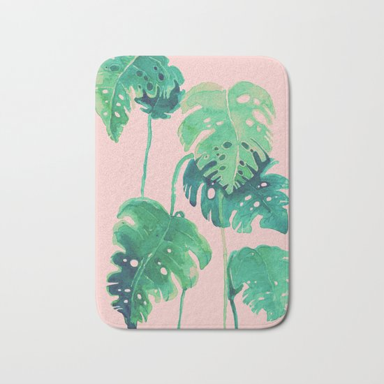 tropical pink Bath Mat