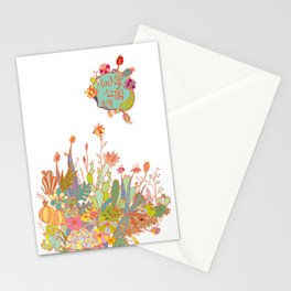cactus garden Stationery Cards