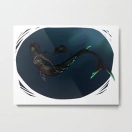 Mermaid (Dark) Metal Print