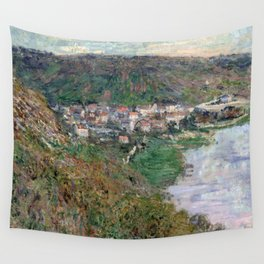 1880-Claude Monet-View of Vétheuil-65 x 81 Wall Tapestry