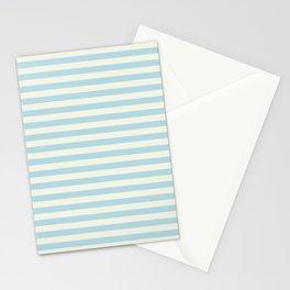 Blue Plume Pale Creme Stripe Stationery Cards