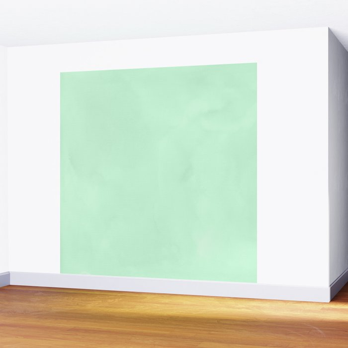 Sea Green Watercolor Wall Mural