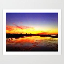 Ocean Beach Sunset Art Print