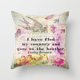 Emily Bronte quote Wuthering Heights Throw Pillow