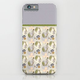 Stone Pop Floral Japanese-inspired Japandi Design iPhone Case
