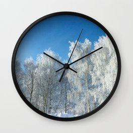 Winter lace Wall Clock