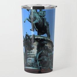 Monument to Nicholas the first. Travel Mug