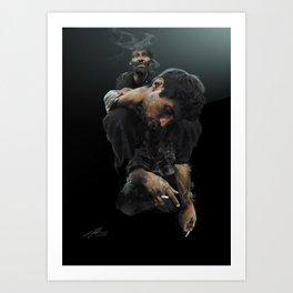 Heavy Shoulders Art Print