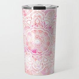 Queen Starring of Mandalas-Rose Travel Mug