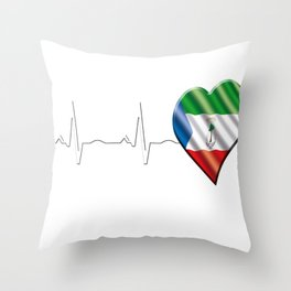 Equatorial Guinea Throw Pillow