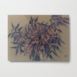 Ash-tree, olive, brown & blush Metal Print