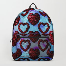 Gothic Rose Petal Hearts Backpack