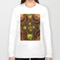 insects Long Sleeve T-shirts featuring Abstract Insects, Fantasy Fractal by gabiw Art