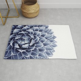 Succulent splendour - chambray Rug