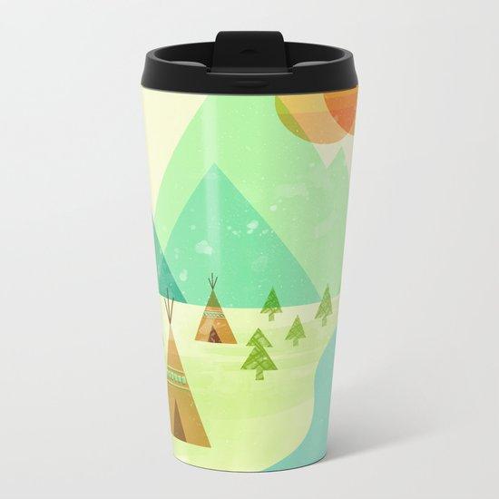 Native Lands Metal Travel Mug