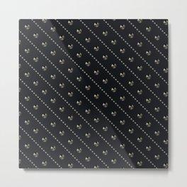 "Illustration . ""Scattering of black Diamonds."" Metal Print"