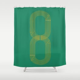 Eight track - runners never quit Shower Curtain