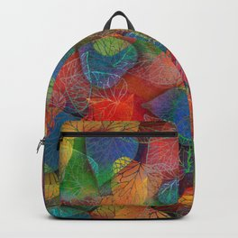 Multicolor Leaves Backpack