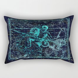 Aquarius, Constellation map, Zodiac, Sign sky, Stars, Universe, astrology, astrological Rectangular Pillow