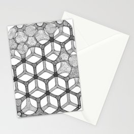 GEOMETRIC NATURE: COGNITIVE HEXAGON w/b Stationery Cards