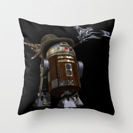Steampunk Sci-Fi  Throw Pillow