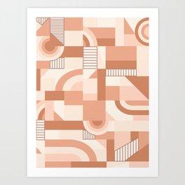 Nude Blocks #society6 #pattern Art Print
