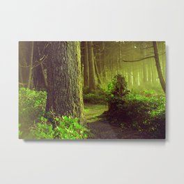 The Forest Whispers Green Metal Print