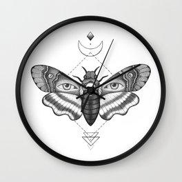 Dotwork Death's-Head Hawkmoth Wall Clock