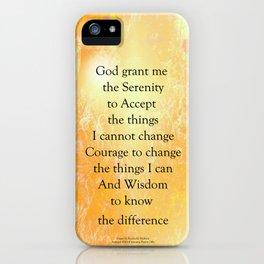 Serenity Prayer Orange Poppy Garden Glow iPhone Case
